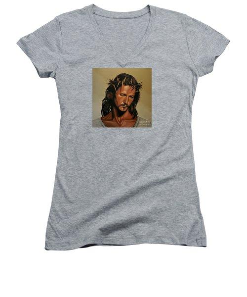 Jesus Christ Superstar Women's V-Neck (Athletic Fit)