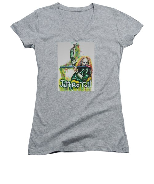 Jethro Tull Women's V-Neck T-Shirt