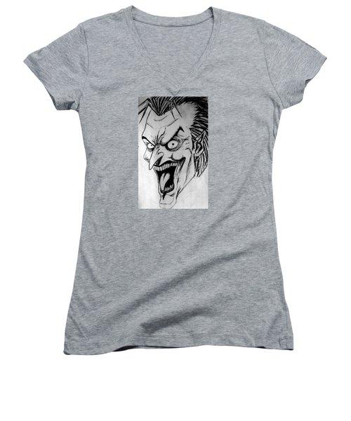 Joker Women's V-Neck T-Shirt (Junior Cut) by Salman Ravish