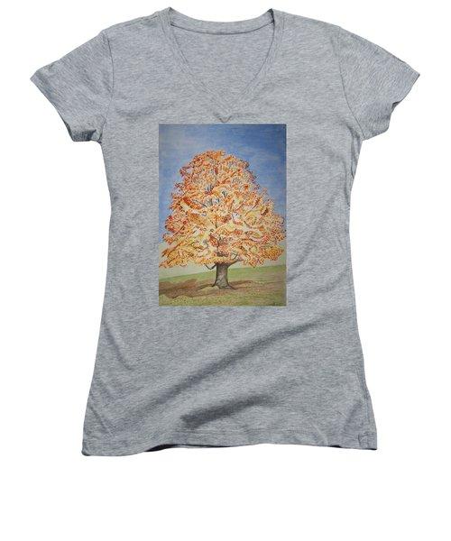 Jolanda's Maple Tree Women's V-Neck