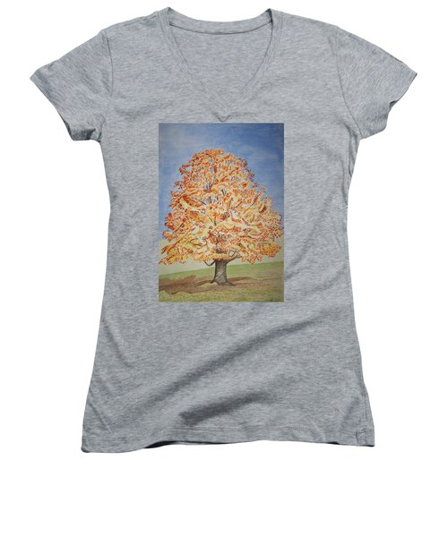 Jolanda's Maple Tree Women's V-Neck (Athletic Fit)