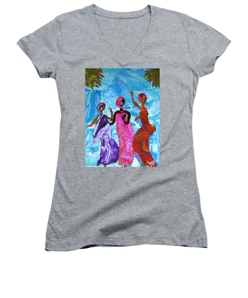 Joyful Celebration Women's V-Neck T-Shirt