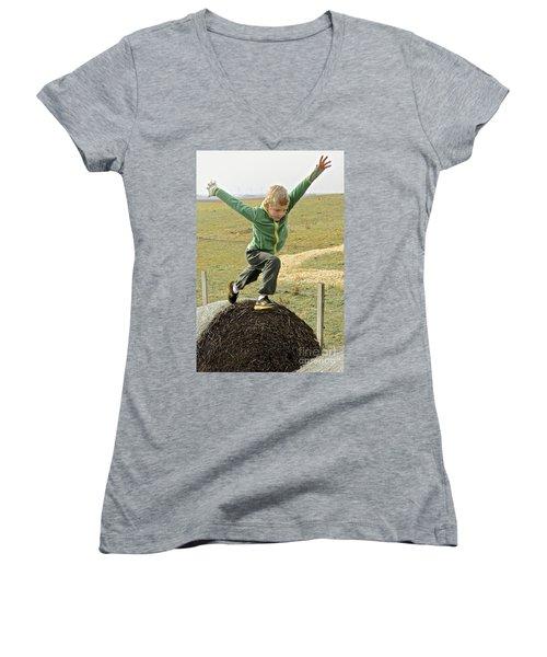 Jumping Haystacks Women's V-Neck (Athletic Fit)