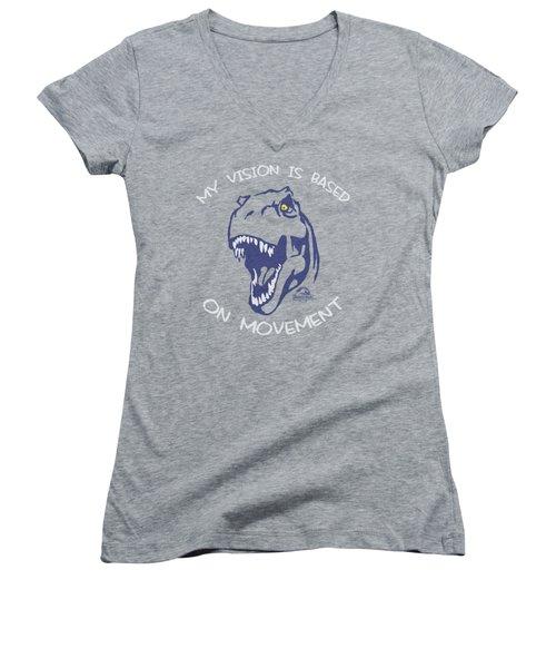 Jurassic Park - My Vision Women's V-Neck T-Shirt (Junior Cut)