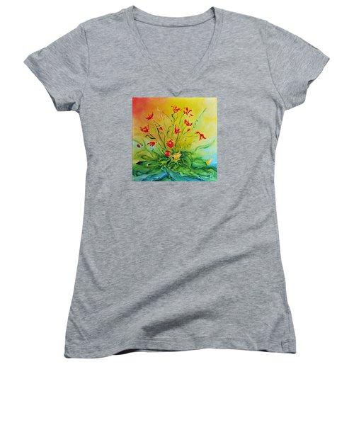 Just For You Women's V-Neck T-Shirt (Junior Cut) by Teresa Wegrzyn