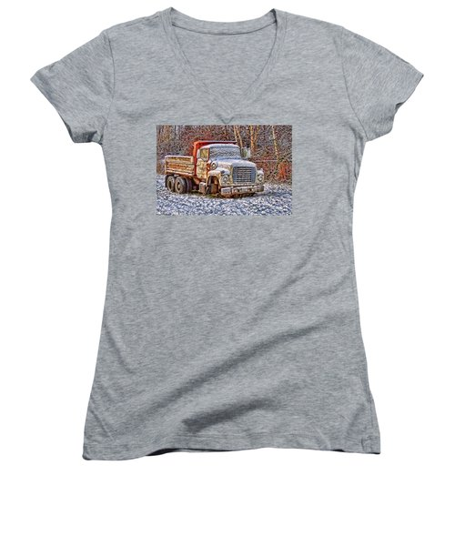 Just Worn Out Women's V-Neck