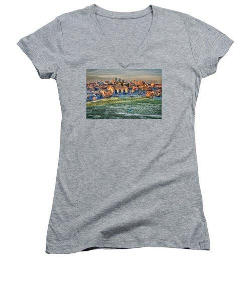 Kansas City  Women's V-Neck T-Shirt