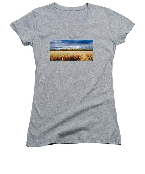Kansas Fall Landscape Women's V-Neck T-Shirt