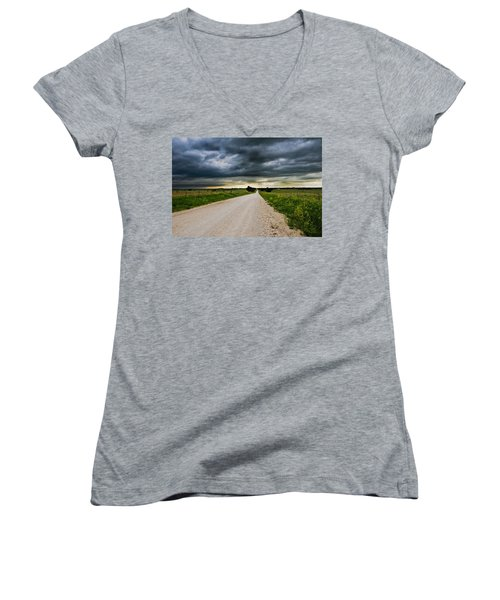 Kansas Storm In June Women's V-Neck T-Shirt