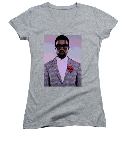 Kanye West Poster Women's V-Neck T-Shirt