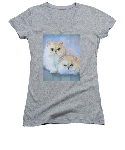 Katrina And Bjorn Women's V-Neck T-Shirt