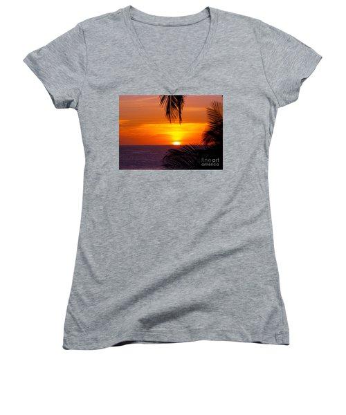 Kauai Sunset Women's V-Neck