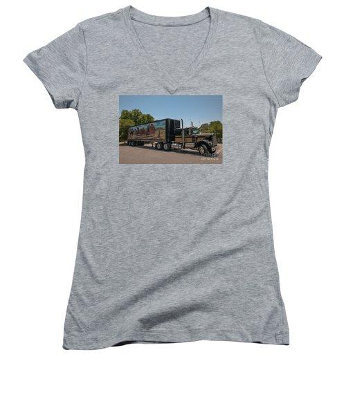 Keep Those Wheels A Truckin Women's V-Neck