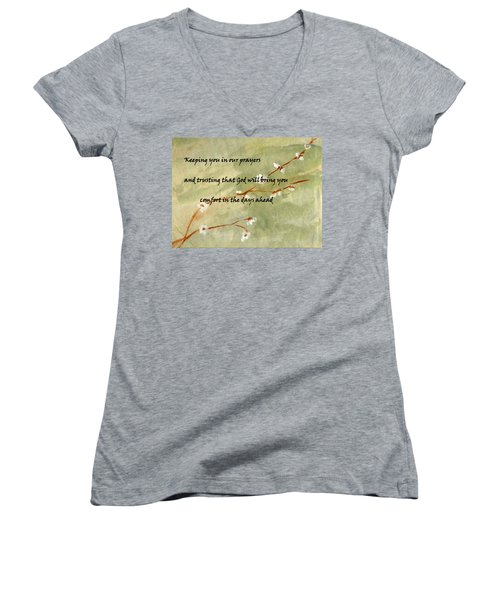 Keeping You In Our Prayers Women's V-Neck T-Shirt