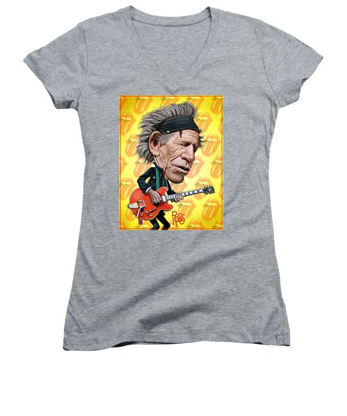 Keith Richards Women's V-Neck (Athletic Fit)