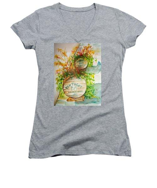 Kentucky Bourbon Barrels Women's V-Neck T-Shirt