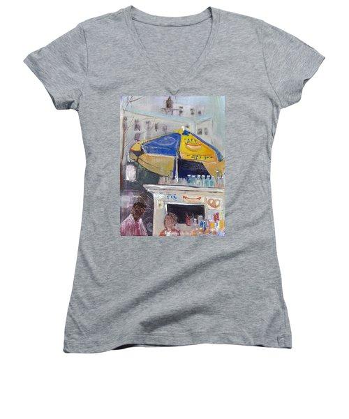 Ketchup Or Mustard Women's V-Neck T-Shirt (Junior Cut) by Leela Payne