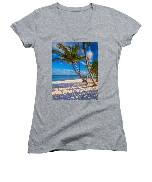 Key West Florida Women's V-Neck (Athletic Fit)