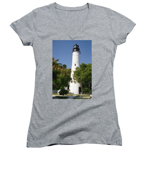 Key West Lighthouse Women's V-Neck (Athletic Fit)