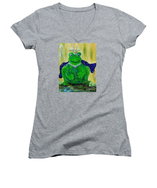 King For A Day Women's V-Neck T-Shirt