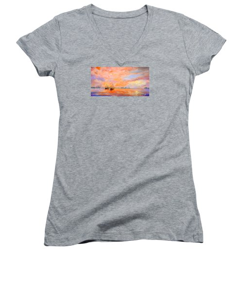 La Florida Women's V-Neck T-Shirt