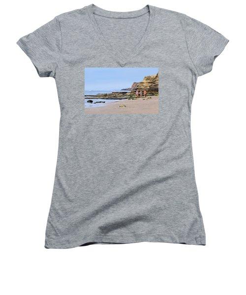 La Jolla Beach Walk Women's V-Neck