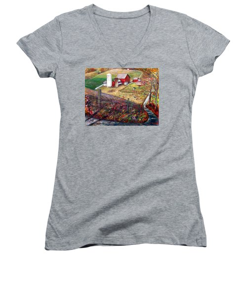 La020 Women's V-Neck (Athletic Fit)