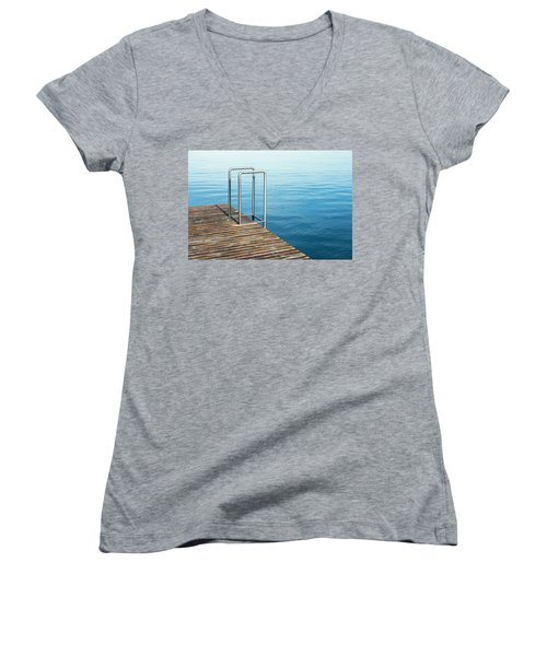 Ladder Women's V-Neck T-Shirt (Junior Cut) by Chevy Fleet
