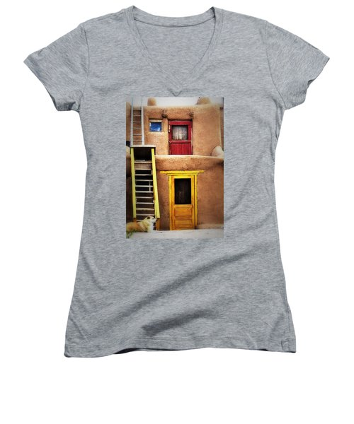 Ladders Doors And The Dog Women's V-Neck