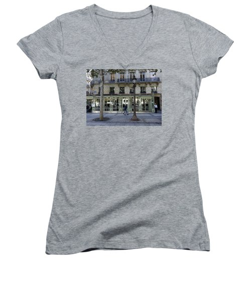 Laderee On The Champs De Elysees In Paris France  Women's V-Neck T-Shirt (Junior Cut) by Richard Rosenshein