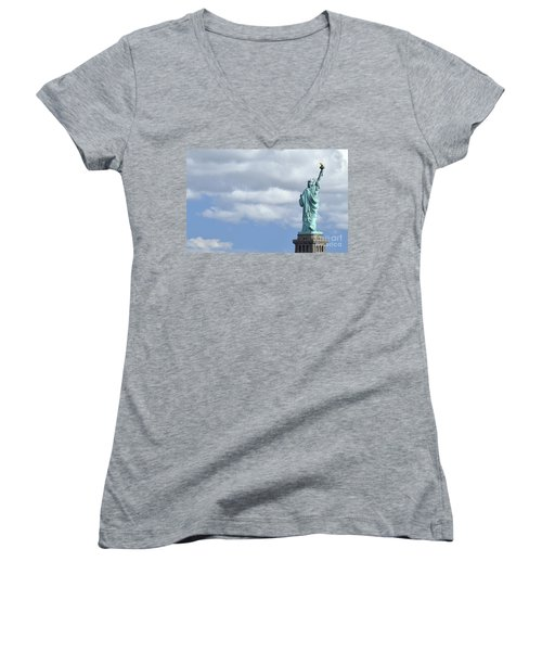 Lady Liberty   1 Women's V-Neck