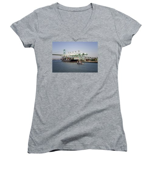 Lafd Fire Boat 2 San Pedro Ca 03 Women's V-Neck (Athletic Fit)