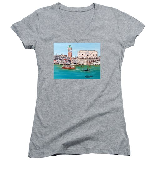 Laguna Women's V-Neck T-Shirt (Junior Cut) by Loredana Messina