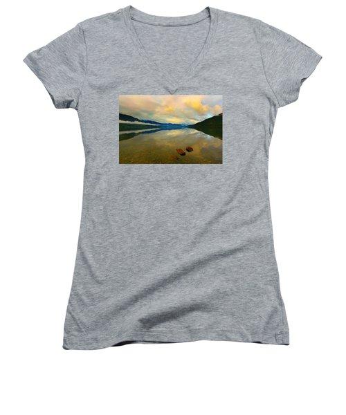 Lake Kaniere New Zealand Women's V-Neck T-Shirt