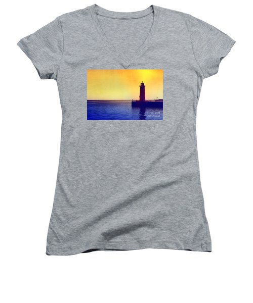 Lake Michigan Women's V-Neck (Athletic Fit)