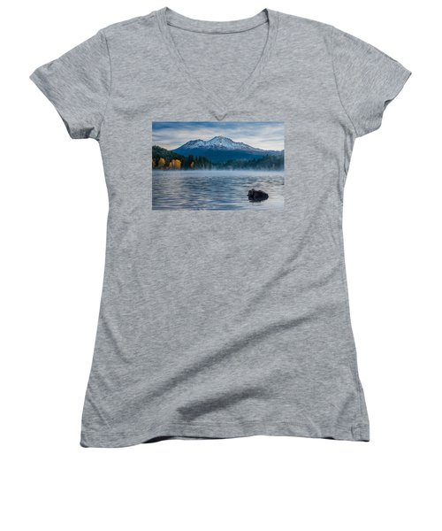 Lake Siskiyou Morning Women's V-Neck (Athletic Fit)
