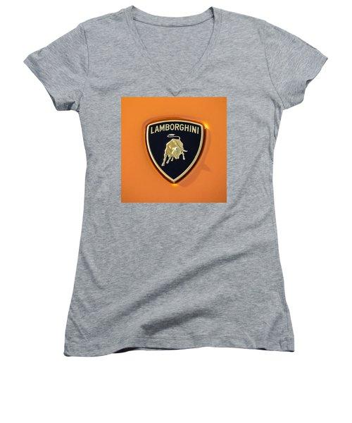Lamborghini Emblem -0525c55 Women's V-Neck