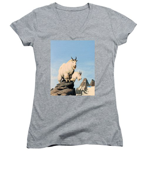 Lamoille Goats Women's V-Neck T-Shirt