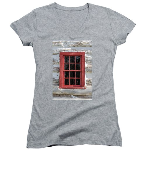 Landow Cabin Window Women's V-Neck
