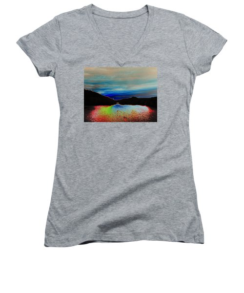 Landscape Abstract Women's V-Neck T-Shirt
