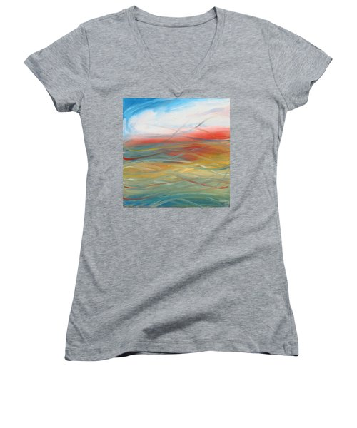 Landscape I Women's V-Neck T-Shirt (Junior Cut) by Sheridan Furrer