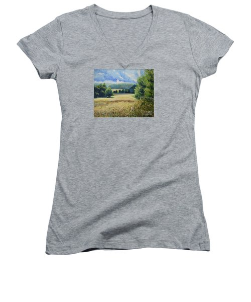 Landscape Near Russian Border Women's V-Neck
