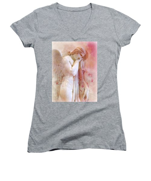 L'angelo Celeste Women's V-Neck