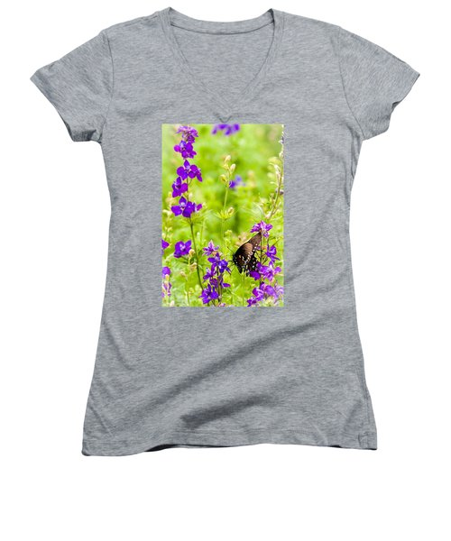 Larkspur Visitor Women's V-Neck (Athletic Fit)