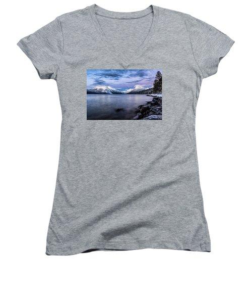Last Light Women's V-Neck T-Shirt (Junior Cut) by Aaron Aldrich