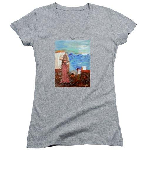 Last Treat Of The Night Women's V-Neck T-Shirt