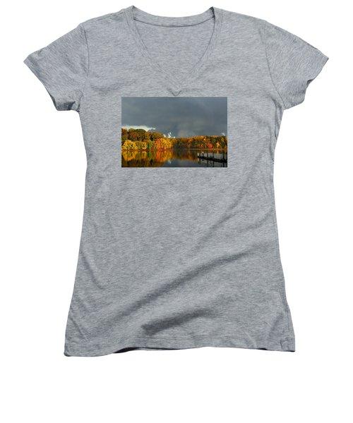 Late Autumn Storm Women's V-Neck T-Shirt