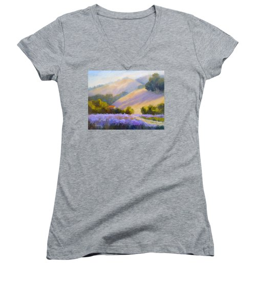 Late June Hills And Lavender Women's V-Neck