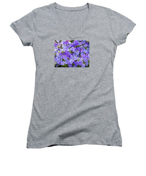 Women's V-Neck T-Shirt (Junior Cut) featuring the photograph Lavender And Purple by Mariarosa Rockefeller