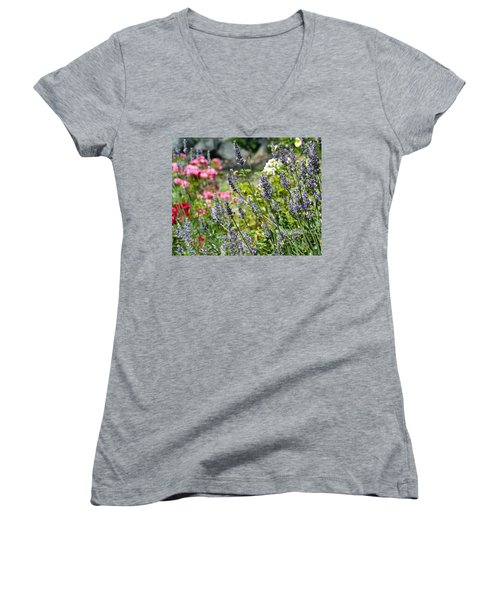 Lavender In Bloom Women's V-Neck